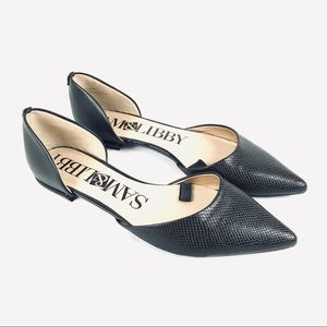 Sam & Libby pointed toe d'Orsay black flats